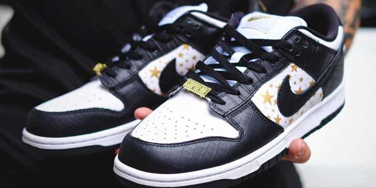 Supreme x Nike SB Dunk Low Stars DH3228-102 Hot Sell