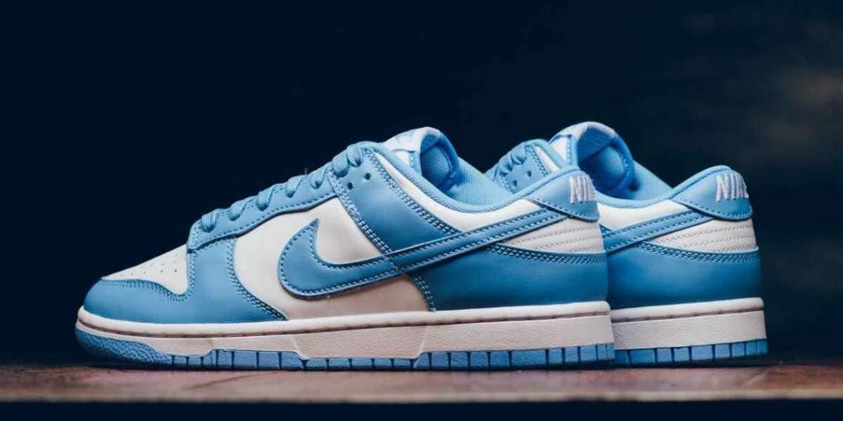 "2021 Latest Nike Dunk Low ""University Blue"" DD1391-102"