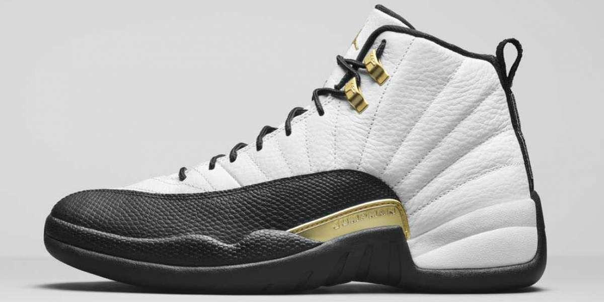 "CT8013-170 Air Jordan 12 ""Royalty"" White/Black-Metallic Gold will be released on November 12"